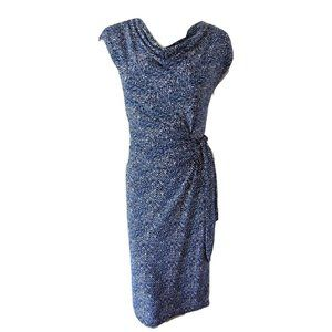 Cassis Navy and Light Blue Dress Small (fits Med)